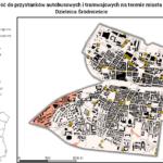 Mapa dostępności czasowej do przystanków komunikacji publicznej w śródmieściu Katowic