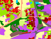 fragment mapy użytkowania terenu