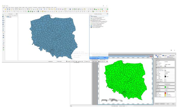 Interfejs programów QGIS i SAGA GIS. Szkolenie - poziom podstawowy