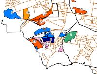 fragment mapy terenów poprzemysłowych