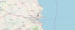 Dynamiczna mapa przelotu samolotu linii Ryanair z Krakowa do Dublina (po kliknięciu na mapę otworzy się animacja)